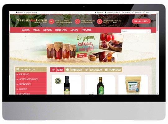 Gıda E-ticaret Web Sitesi