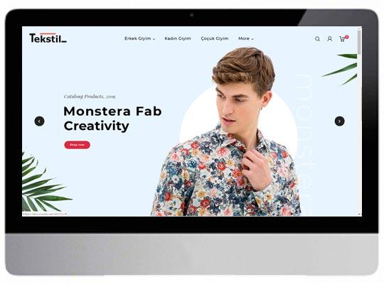 Tekstil Giyim E-ticaret Web Sitesi