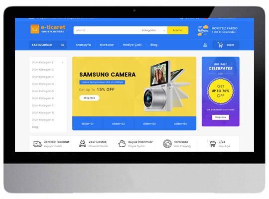 E-ticaret Elektronik Web Sitesi